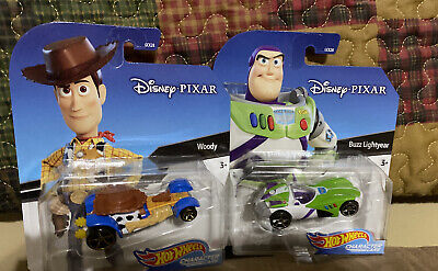 2020 Hot Wheels Disney Character Cars Woody And Buzz Lightyear Toy Story
