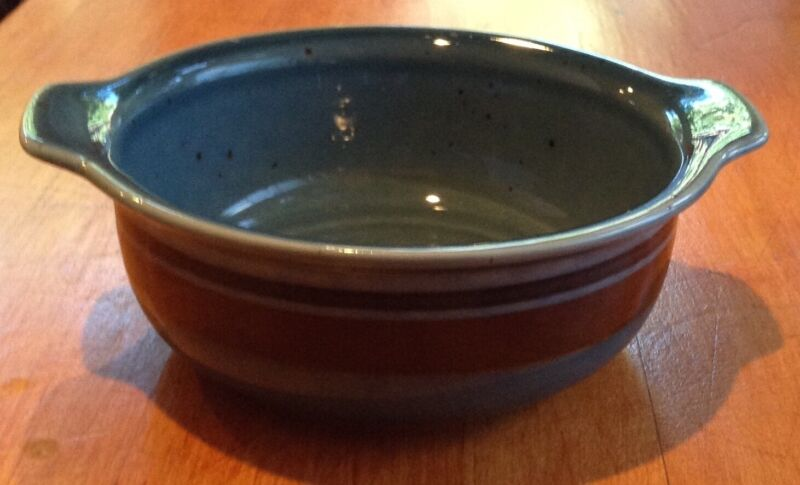 Arabia Finland Meri Blue Lugged Cereal Bowl