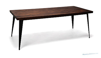 Modern Real Wood Solid Wood Conference Table Or Desk With Metal Legs