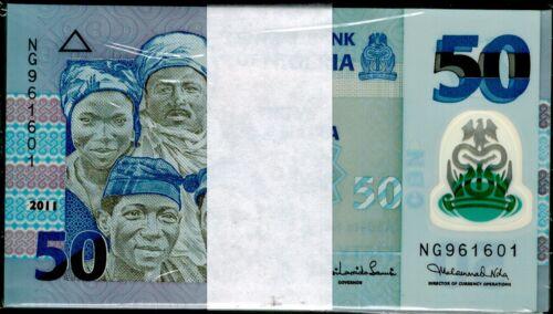 2011 Nigeria 50 Naira Bundle Uncirculated 100 Notes