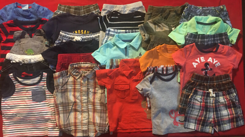 Euc Adorable Baby Boys Spring/summer Clothes Lot Outfit Sets 6 Months Lot # 15