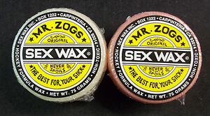 Sex Wax Hockey Stick Wax Mr. Zogs (2 pack) - NEW!!!