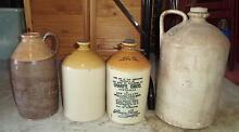 Lots of Antique Demijohn Stoneware Wine Vinegar Barrel Jug Urn Coogee Cockburn Area Preview
