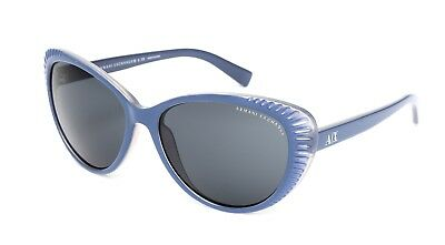 Armani Exchange AX4013 Women's Blue Cat Eye Sunglasses 1215