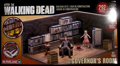 THE WALKING DEAD Building Set - The Governor's Room - McFarlane Toys