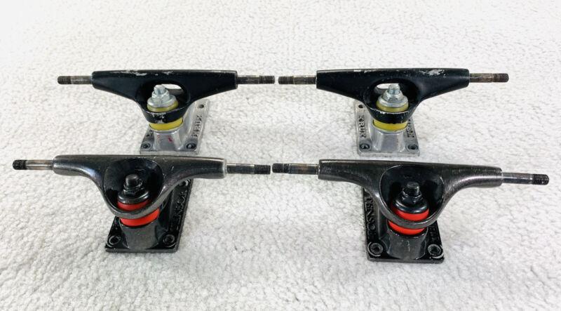 """Tensor Mag 10 Low Skateboard Trucks + Krux High Skate Trucks 7.5"""" Axel Lot Of 2"""