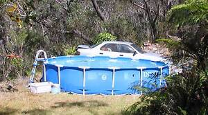 LARGE 4.6M INTEX ABOVE GROUND SWIMMING POOL & BESTWAY SAND FILTER Blackheath Blue Mountains Preview