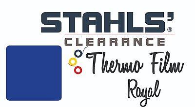15 X 5 Yards - Stahls Thermo-film Heat Transfer Vinyl Htv - Royal Blue