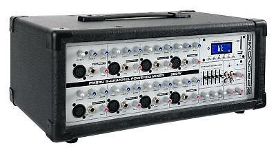 8-Kanal DJ PA Power Mischer Mischpult Verstärker USB SD Bluetooth MP3 Player