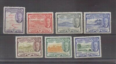 St Kitts Nevis George VI 1952 Seven values to $1.20 very lightly mounted mint
