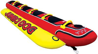 NEW Airhead 5-Person Inflatable Hot Dog Towable Banana Boat Water Sport Ski Tube