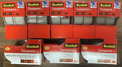 16 X 3m Scotch Clear Office Transparent Tape 34 250 W Desktop Dispenser Lot