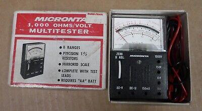 Vintage Micronta Radio Shack Multimeter  Free Shipping