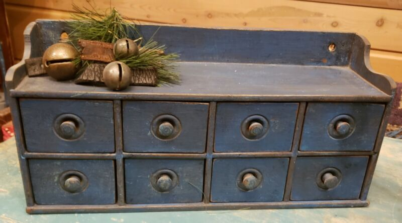 Antique Drawers ~ Rare Apothecary Spice Chest 8 drawer cabinet