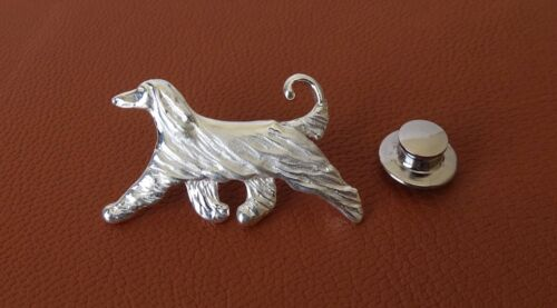 Small Sterling Silver Afghan Hound Lapel Pin