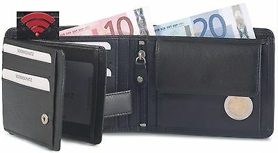Bodenschatz Men's Wallet Men's Purse Purse with RFID Leather Wallet New