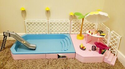 Vintage Barbie Tropical Pool and Patio - Incomplete Set