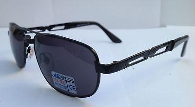 Sonnenbrille/Schwarzer Metallrahmen/graue Gläser, Damen, UV 400, verzierte Bügel