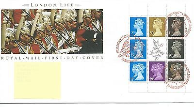 wbc. - GB - FIRST DAY COVER - FDC - PRESTIGE PANE -1990- LONDON LIFE -Pmk LONDON