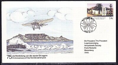 South Africa 1986 75th Anniversary Aerial Post Flight cover to Germany