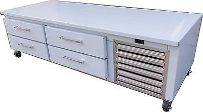Refrigerated Chef Base Grill Equipment Stand 4 Drawer Cooler