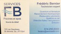 Réparations, services, ouverture, fermeture PISCINES ET SPAS