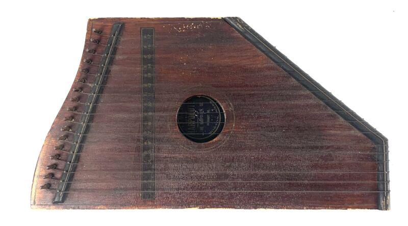 Antique 1892 HARPOLUTE Boston, Mass. Small 17 String Musical Instrument