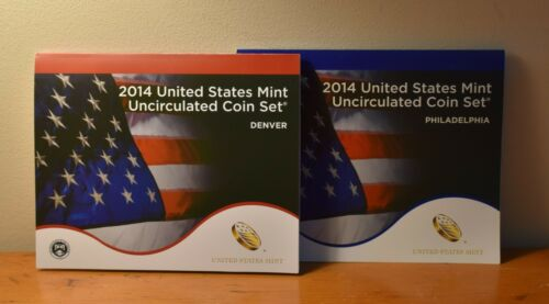 2014  US Mint Uncirculated Coin Set 28 P & D Coins with COA in sealed box