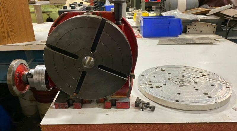 "TROYKE 9"" HORIZONTAL / VERTICAL ROTARY TABLE - #U-9 with Aluminum Tooling Plate"