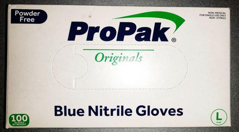 Blue Nitrile Gloves 100 PCS