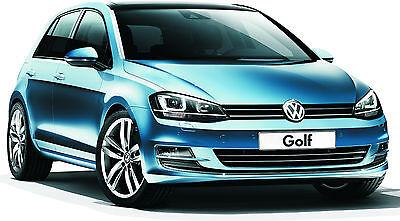 Blechschild 20 x 30 cm, VW Golf, Auto