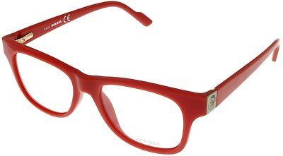 Diesel Women Prescription Eyeglasses Frame Red Rectangular DL5041 066