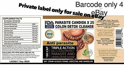 Parasite Cleanse DETOX Liver Colon Yeast Blood KILL Killer vital 200 Cap XL cure 5