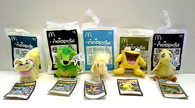 Authentic Neopets McDonalds Collection Lot Of 5