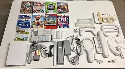 nintendo wii console and 9 games bundle
