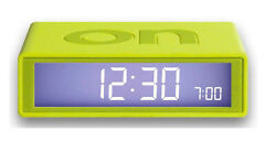 Lexon Flip LCD Alarm Clock Travel LR130U6 Lime - Simple Operation by Turn