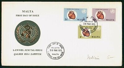 MayfairStamps Malta 1972 Heart Medicine Combo 3 United Nations First Day Cover w