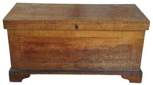 Early 19th Century Pennsylvania Pine Painted Grain Trunk or Blanket Chest 58""