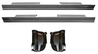 01-03 Ford Crew Cab F150 F250 Heritage Slip-on Rocker panel -Cab Corner Kit
