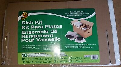 Duck Brand Dish Moving Kit 4 Corrugate Dividers And 18 Foam Pouches