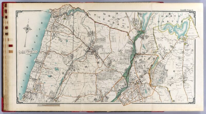 1908 Atlas WESTCHESTER COUNTY NEW YORK CITY map old GENEALOGY LAND OWNER DVD P43