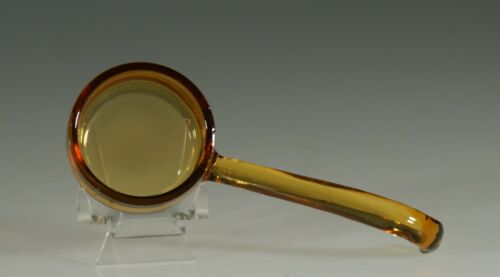 Vintage Depression Glass Light Amber 5 Inch Ladle with Round Bowl c.1935