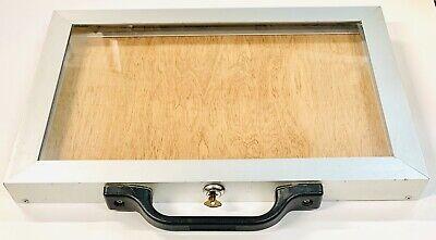 Aluminum Jewelry Display Case Portable Locking 18 X 12 X 1.5