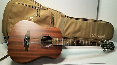 Luna Safari Muse Mahogany Acoustic Guitar and Taylor GS Mini gig bag