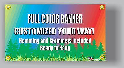 4'x8' Custom Vinyl Banner Single Sided 13oz Full Color - Free Design Included