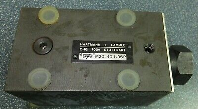 Hartmann Lammle M20-401-35p Hydraulic Valve Ohg 7000 Flow Control