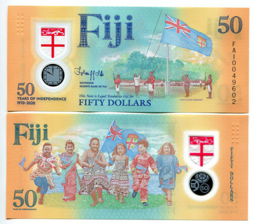 Fiji 2020 Commemorative Polymer Banknotes 50 Dollars UNC