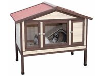 NEW RRP £225 Kerbl Rabbit Hutch / Rodent Cage 4-Seasons Deluxe 130 x 66 x 110 cm