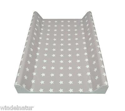 ASMi Wickelauflage 2-Keil Sterne grau/weiß 70x50 cm Wickeltisch Ökotex Auflage