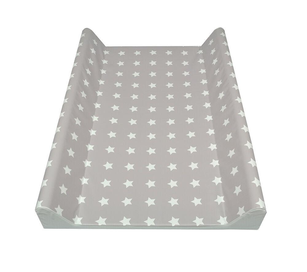 Wickelauflage 2-Keil Sterne grau/weiß 70x50 cm ASMi Wickeltisch Ökotex Auflage